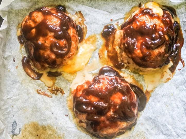 cooked pork armadillo patties