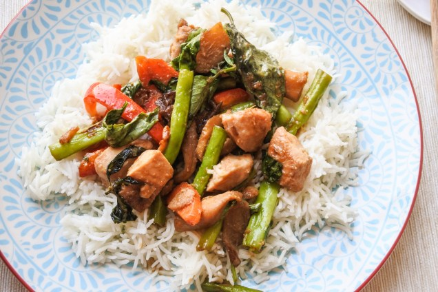 Serve with rice and enjoy