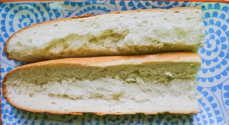 baguette cut in half