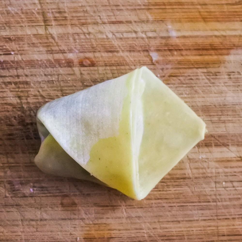 folded wonton