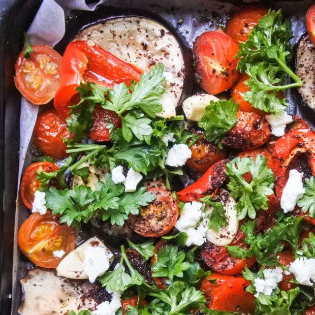 Sumac Roasted Vegetables with Lemon and Feta 7