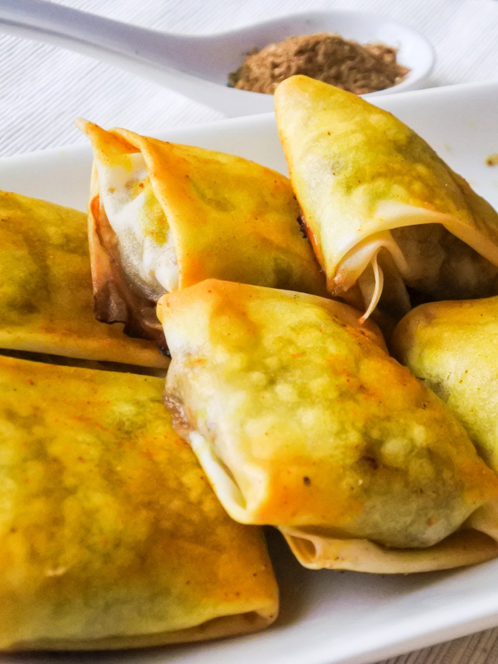 Golden Uyghur lamb parcels with Xinjiang spice