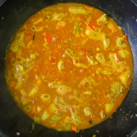 Once at a boil, add beans, turn heat down to low/medium low and cook at a simmer.