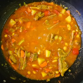 Cook until lamb is tender and stew is to your desired consistency (about 1 hour).