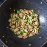 Return chicken to the mixture, stir and cook for about a minute.
