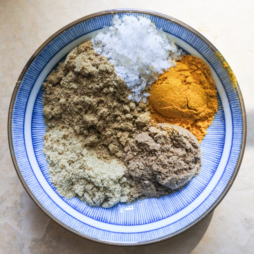 A small bowl of spices