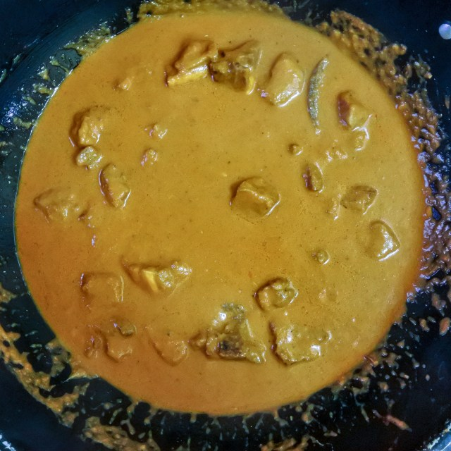 Rogan Josh curry before reduction