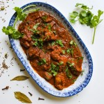 Rogan Josh Curry garnished with cilantro