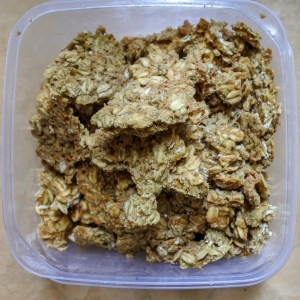 oat cake crumbles in square dish