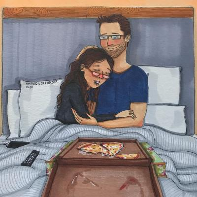 Spices Of Lust - Amanda Oleander -Pizza in bed