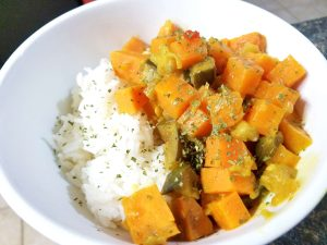 Eggplant Sweet Potato Curry
