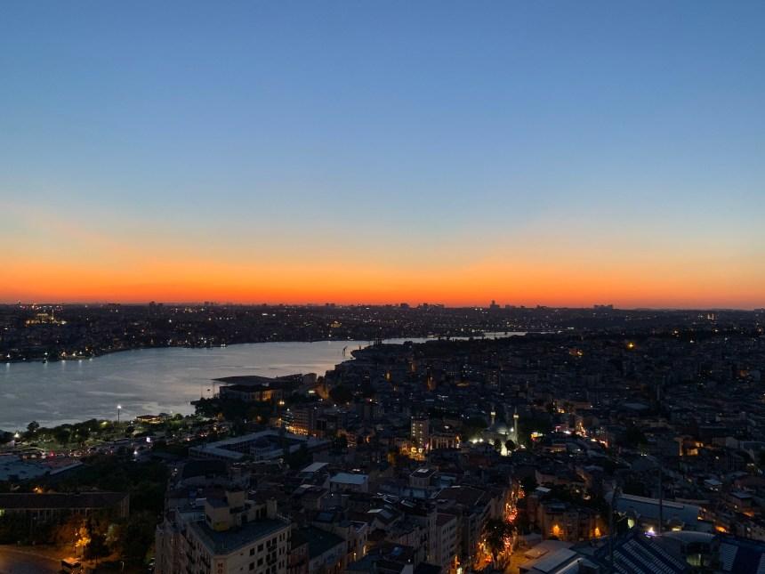 Mikla's Istanbul sunset