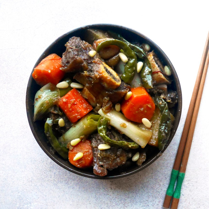Korean braised beef short ribs