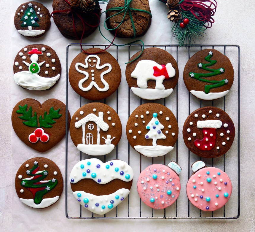 Chirstmas Ginger cookies decoration Joanne Chang Flour