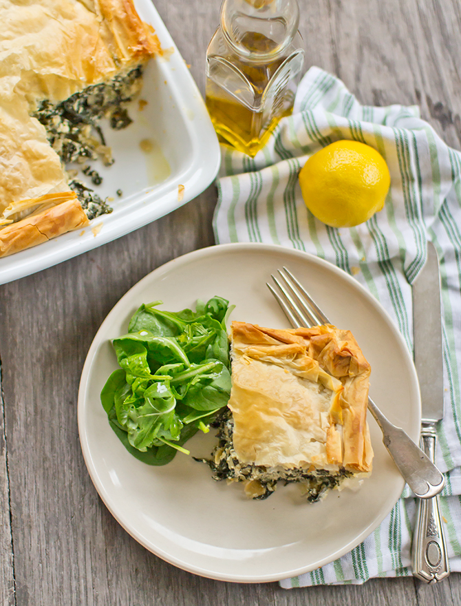 Ottolenghi Spinach, Ricotta and Fetta Pie