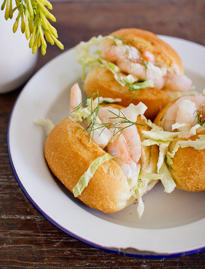 Prawn Sliders with Lemon Fennel Slaw