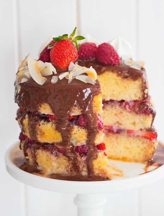 Lamington Tres Leches Cake