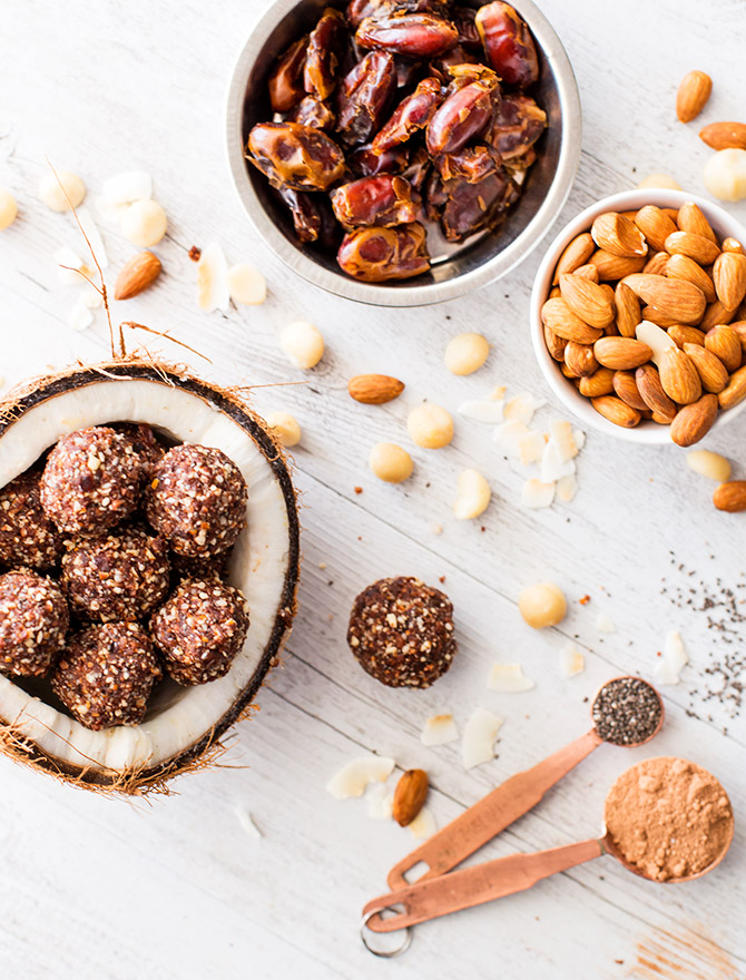 Cacao Chia Bliss Balls Healthy Snack