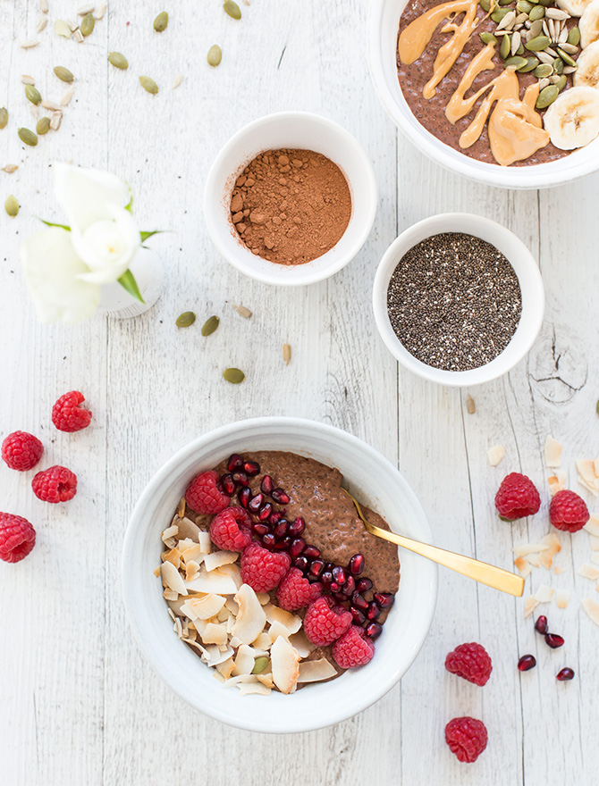 Warm Chocolate Chia Porridge