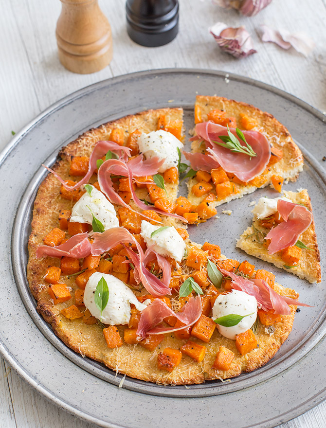 Simple Dinners - Cauliflower Pizza with Roasted Pumpkin