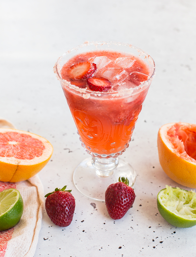 Roasted Strawberry Paloma