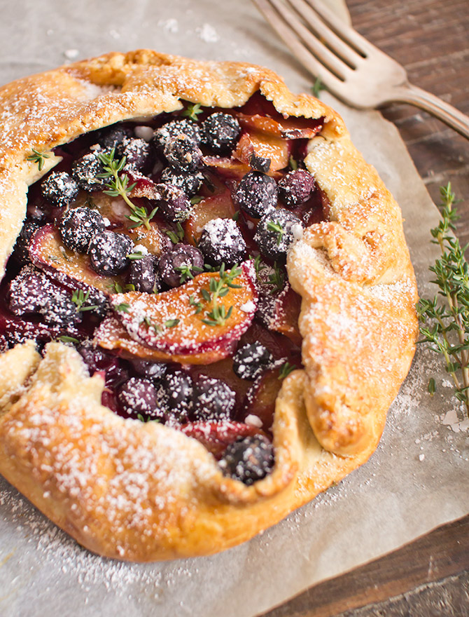 Plum, Blueberry and Thyme Galette