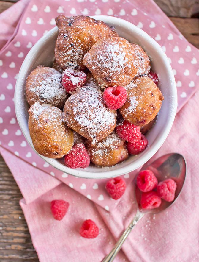 Raspberry Ricotta Doughnuts