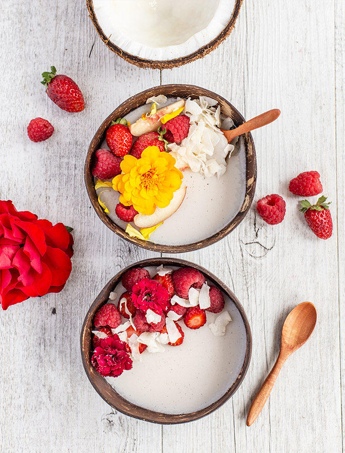 Dairy Free Coconut Panna Cotta