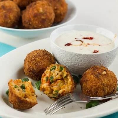 fried crawfish etouffee balls