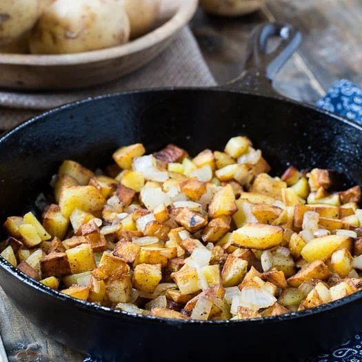 Spread potatoes in one layer on sheet, and bake 30 minutes without turning. Duck Fat Home Fries Spicy Southern Kitchen