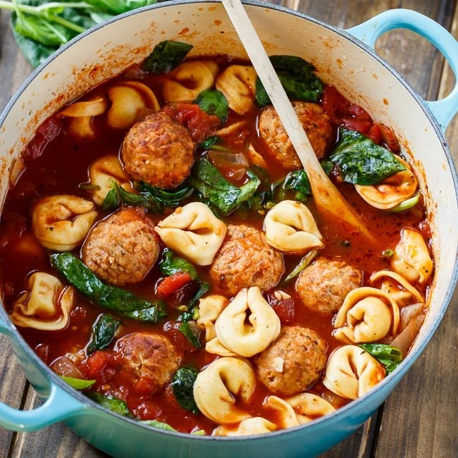 Meatball and Tortellini Soup  Spicy Southern Kitchen