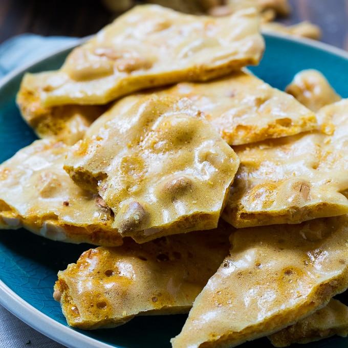 Microwave Peanut Brittle - Spicy Southern Kitchen