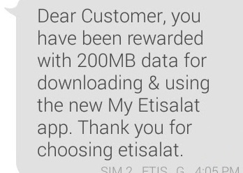 How to Get Etisalat Free 200MB Without Installing The