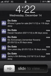 Do Date –  Event Date Calculator & Reminder & Sheduler iPhone App