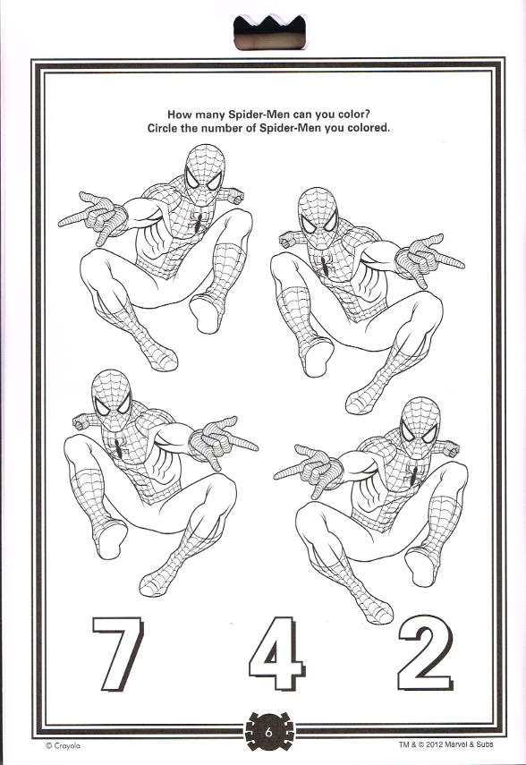 Spider-Sense Spider-Man: Travel Activity Pad (Crayola) [in
