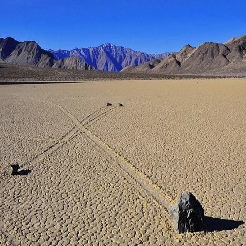 california death valley rolling rocks