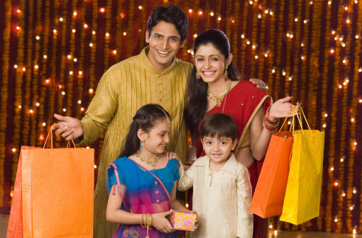 Festival shopping in India