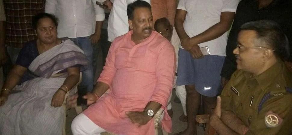 MLA alka rai sitdown strike in ghazipur