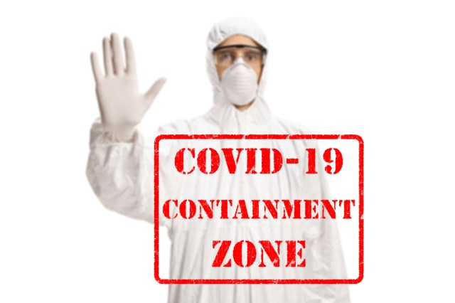 कोरोना संक्रमित क्षेत्र
