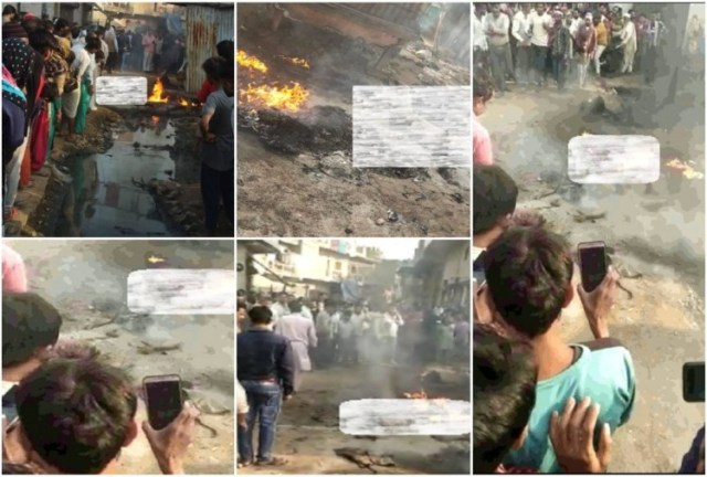 लोनी दिल्ली में आग हादसा