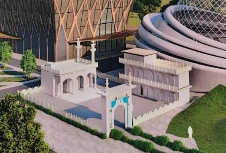 बनने वाली मस्जिद का नया डिजाइन।