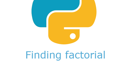 finding factorial of a number using python