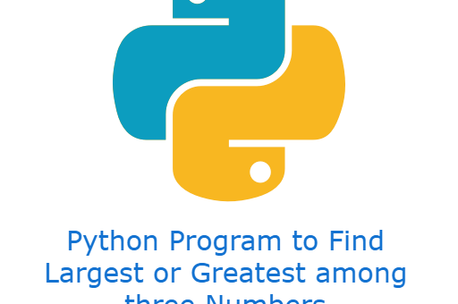 Python Program to Find Largest or Greatest among three Numbers (3 different ways)