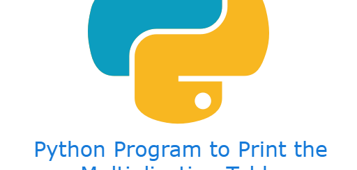Python Program to Print the Multiplication Table