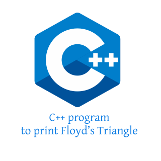 C++ program to print Pascal's and Floyd's triangle