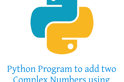 Python Program to add two Complex Numbers using Classes
