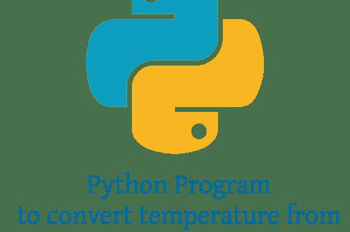 Python Program to convert temperature from Celsius to Fahrenheit