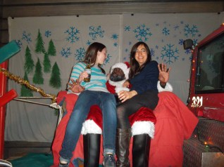 Natalie and I with Santa 1.