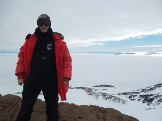 Erik, with the Ross Sea in the background.