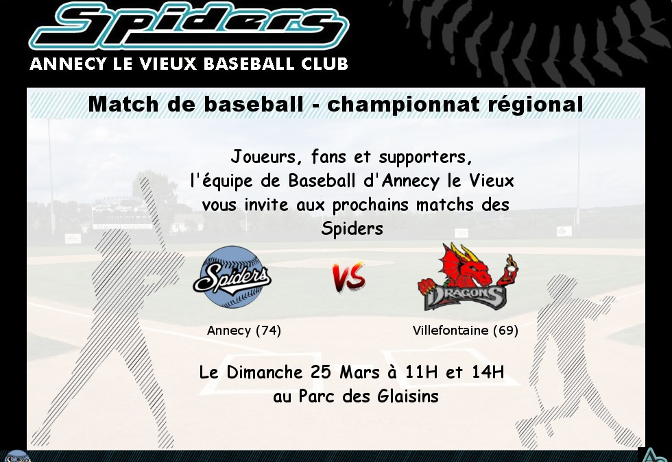 Spiders – Annecy le Vieux vs Dragons – Villefontaine